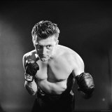 Actor Kirk Douglas in a Boxing Pose