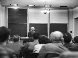 Albert Einstein Lecturing to Class at the Institute for Advanced Study