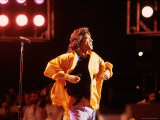 Singer Mick Jagger Performing