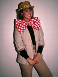 Actress Linda Blair  Wearing over Sized Bow Tie