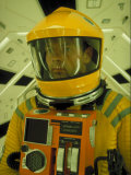 Close Up Portrait of Actor in Astronaut Suit on the Set of the Movie &quot;2001: A Space Odyssey&quot;