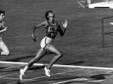 Wilma Rudolph  Across the Finish Line to Win One of Her 3 Gold Medals at the 1960 Summer Olympics