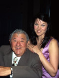 Comedian Buddy Hackett and Actress Lucy Lawless