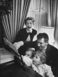 Composer/Conductor Leonard Bernstein with Wife  Felicia Montealegre  Children  Alexander and Jamie