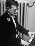 Composer Dmitri Shostakovich Playing Piano