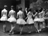 Corps de Ballet Listening to Ballet Master During Rehearsal of &quot;Swan Lake&quot; at Paris Opera
