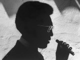 Silhouette of Actor/Comedian Bill Cosby with Cigar  Former Star of TV Series &quot;I Spy&quot;