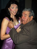 Actress Lucy Lawless and Comedian Buddy Hackett