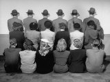 Macy's Department Store Detectives with Their Backs Turned So as Not to Reveal Their Identity