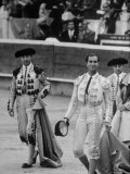 Spanish Matador Luis Miguel Dominguin During the Paseo of the Matadors at Beginning of Bullfight