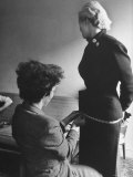 Miss Sweden Anita Ekberg  a Model From Malmo  Having Her Hips Measured Head of Ford Model Agency