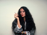 Actress Sonia Braga  Holding Cigarette
