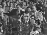 Howard R Hughes Testifying at Hearing Before the Senate War Investigation Committee