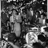 Gene Krupa  American Drummer and Jazz Band Leader  Playing Drums with Saxophonist Charles Ventura