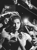 Actress Pier Angeli  Surrounded by Hands From Hair Stylist  Dresser  and Cameraman on MGM Movie Set