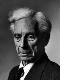 Portrait of Philosopher Bertrand Russell