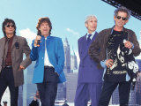 Musicians Ronnie Wood  Mick Jagger  Charlie Watts and Keith Richards of the Rolling Stones