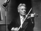 Fritz Kreisler  Austrian Born Violinist and Composer  Playing the Violin in an NBC Studio