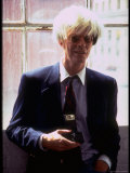 "Actor David Bowie  as Artist Andy Warhol  in a Publicity Still for the Film ""Basquait"""