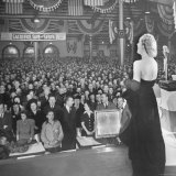 Actress Carole Lombard Performing to Help Sell War Bonds During Rally