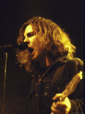 Singer Eddie Vedder of Rock Group Pearl Jam Performing
