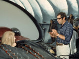 "Director Roger Vadim and Jane Fonda Working on Movie ""Barbarella"" Near Rome"