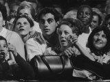 Dutch Audience Watching Jazz Trumpeter Louis Armstrong Performing with Band During a Concert