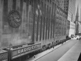 People at Radio City Music Hall Waiting to See Greer Garson and Clark Gable in &quot;Adventure&quot;