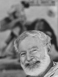 Author Ernest Hemingway Covering Bullfight Rivalry of Spanish Matadors Ordonez and Dominguin