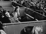 Alfred G Vanderbilt and Alice G Preston Sitting in a Grandstand Box at the Santa Anita Racetrack