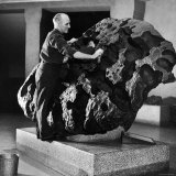 Museum Attendant Cleaning 14 Ton Willmette Meteorite  the Largest Found in the US
