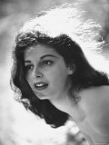 Actress Pier Angeli  22  Posing in the Woods