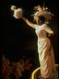 "Actress Pearl Bailey Pointing Parasol as Dolly Levi in Scene from Broadway Musical ""Hello Dolly"""