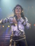 Pop Entertainer Michael Jackson Singing at Event