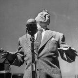 Singer Frankie Laine During a Concert
