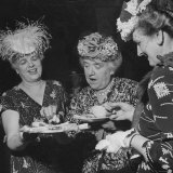 Members of the Women's Club of Chevy Chase Enjoy Canapes at Their Tea Party