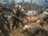 Wounded Marine Gunnery Sgt Jeremiah Purdie During the Vietnam War