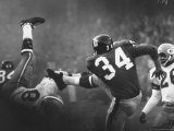 NY Giant Don Chandler Making a Punt in a Football Game Against the Green Bay Packers