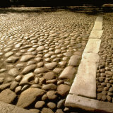Good Example of American Stonework  famous cobblestones of Main Street in Nantucket 1850