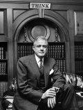 IBM Pres Thomas J Watson Jr in Office