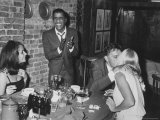 Actors Sammy Davis Jr and Richard Burton and May Britt