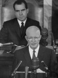 President Dwight D Eisenhower Giving His State of the Union Address to Congress
