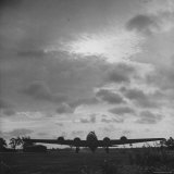 B-17 Flying Fortress Takes Off over Germany from US 8th Bomber Command Airdrome in Southern England