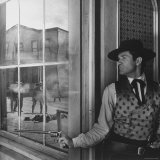 "Actor Hugh O'Brian in Scene from a TV Show ""Wyatt Earp"""