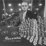 Casino and Night Club Owner William Harrah at Table