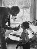 Author Roald Dahl with Son