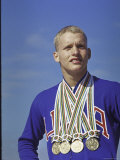 Don Schollander Proud with His Four Olympic Gold Medals Won in Swim Events at the Summer Olympics