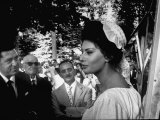 "Actress Sophia Loren in Costume Between Takes During Location Filming of ""Madame Sans Gene"""