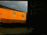 Refrigerated Box Car with the Union Pacific Railroad Logo and Southern Pacific Line