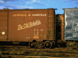 Railroad Box Cars  One with Logo of Louisville and Nashville Railroad and Name &quot;The Old Reliable&quot;